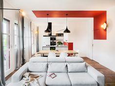 Small House Interior Design, Office Interior Design, Office Interiors, Interior Decorating, House Design, Estilo Color Block, Colour Blocking Interior, House Extension Design, Appartement Design
