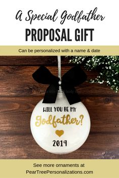 Will you be my godfather ideas gift, Godfather proposal gifts, Will you be my godfather ornament