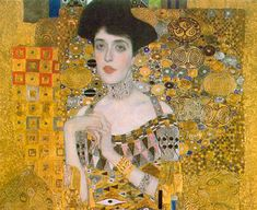 Portrait of Adele Cropped Canvas by Klimt