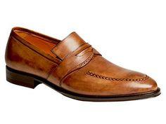 Mezlan Custom Tan Penny Slip On Shoes Tiepolo