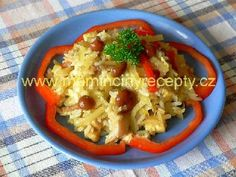 Čínový mikles pikles Cauliflower, Chicken, Vegetables, Food, Cauliflowers, Essen, Vegetable Recipes, Meals, Cucumber