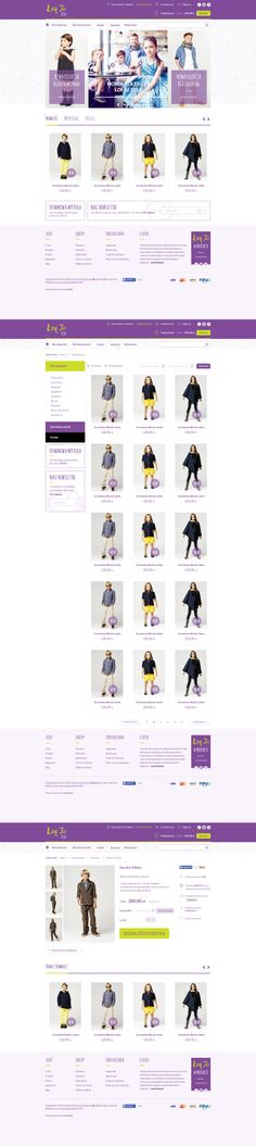 Kids Fashion ecommerce design