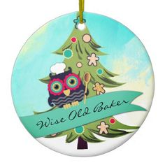 #owl wise old baker cookie tree Christmas ornament - #Xmas #ChristmasEve Christmas Eve #Christmas #merry #xmas #family #holy #kids #gifts #holidays #Santa