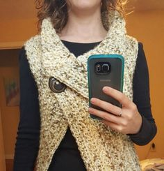 You will love this Crochet Peekaboo Button Wrap Video and it's an easy free pattern. It will become a new favourite in your wardrobe.