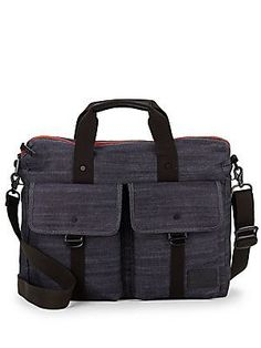 T-Tech by Tumi Iron Arch Denim Briefcase - Denim - Size No Size
