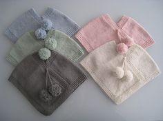 Tiny knit ponchos
