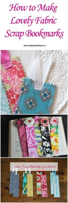 How to Make Lovely Fabric Scrap Bookmarks Tutorial #OperationChristmasChild