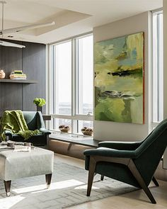 Pops of Chartreuse | Daher Interior Design
