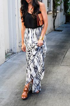 Parker skirt (size down!)  Express tank //  // Tory Burch cuff  Celine sunglasses // Max and Chloe necklace // Vintage bag