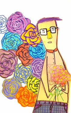 Bill Borges o ilustrautor Its A Mans World, Illustrations, Princess Zelda, Painting, Fictional Characters, Fruit, Amor, Flowers, Glasses