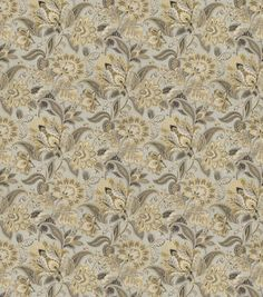 Smc Designs Upholstery Fabric-Deboss/ Gold Dust