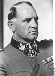 """Josef """"Sepp"""" Dietrich (28 May 1892 – 21 April 1966) was a German SS General. He was one of Nazi Germany's most decorated soldiers and commanded formations up to Army level during World War II. Prior to 1929, he was Adolf Hitler's chauffeur and bodyguard but received rapid promotion after his participation in the murder of Hitler's political opponents during the Night of the Long Knives. After the war, he was imprisoned by the United States for war crimes and later by Germany for murder."""