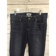 {Paige Jeans} Peg Skinny Jeans Dark Wash These super soft, super cute PAIGE peg skinnies are in excellent condition. Dark, vintage wash, with great quality, slightly stretchy denim. These will be your new favorite jeans. Between low and mid rise. Paige Jeans Jeans Skinny