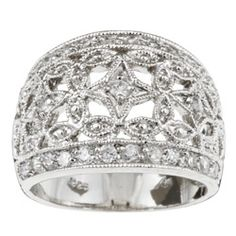 Sterling Essentials Sterling Silver Cubic Zirconia Vintage-style Dome Ring - Overstock™ Shopping - Big Discounts on Sterling Essentials Cubic Zirconia Rings39