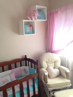 Nursery decor birds, manufactured in 100% cotton fabrics. Pink and turquoise make such a stunning combination of nursery colours for a little girl. www.facebook.com/borderboutique.co.za