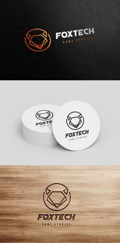 Fox Logo. Technology icons. $25.00
