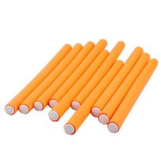 10 Pcs Orange Soft Foam Twist Bendy Roller Hair Curler