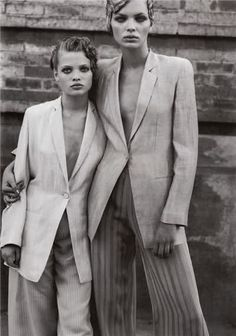 Esther Canadas & Mélanie Thierry by Peter Lindbergh for Vogue Italia March 1998
