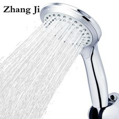 5 Modes Abs Plastic Bathroom Shower Head Big Panel Round Chrome