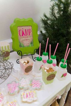 Camping birthday party! See more party ideas at CatchMyParty.com!