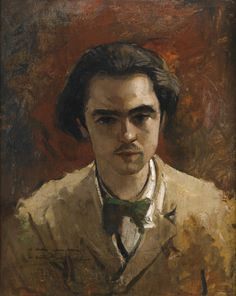 Portrait painting of a young Paul Verlaine by Gustave Courbet. Verlaine would be associated with the decadent and symbolist movements in the late century. Henri Fantin Latour, Renoir, Paul Verlaine, Art Français, Gustave Courbet, French Paintings, Mini Paintings, Frederic, Art Database