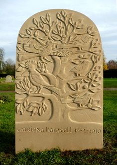 Hand carved memorials, gravestones and headstones by stone carver, letter cutter and designer Teucer Wilson Cemetery Monuments, Cemetery Art, Tree Of Life Painting, Calligraphy Types, Memorial Stones, Stone Carving, Wood Carving, Stone Sculpture, Artist Profile