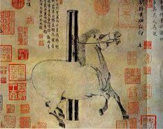 Han Gan - White Night Horse - Tang Dynasty (618 - 907)