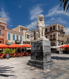 Pythagoras Square in Vathí, Samos Island, Greece