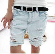 3641f6ec86c Shorts Women 2016 Fashion Dog Embroidery Pocket Ladies Jeans Vintage  Trousers Women Hole Denim Short Pants S M L XL