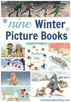 A list of winter-themed picture books for kids.