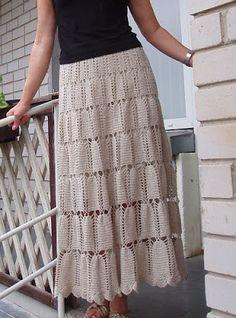 Solountip.com: Patrones de faldas largas a crochet