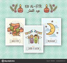 Greeting Card Design - Selamat Hari Raya Aidifitri Celebration — Stock Illustration #156824588