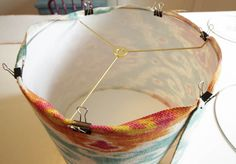 How to make a lampshade using a Lamp Kit from I Love That Lamp at thehappyhousie.com-9
