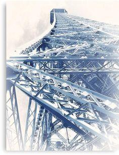 Impression métallique 'Tour Eiffel (Eiffel Tower) by GEN Z' par Gen-Z Tour Eiffel, George Washington Bridge, Occasion, High Gloss, Tours, France, Paris, Stickers, Artwork