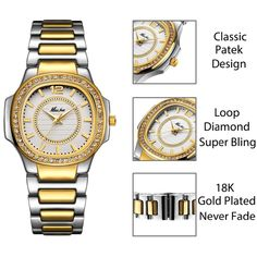 b84a5c2fecb Women Watches Women Fashion Watch 2018 Geneva Designer Ladies Watch Luxury  Brand Diamond Quartz Gold Wrist Watch Gifts For Women