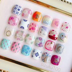 Toes nail art is part of Prom nails Silver Bling - Prom nails Silver Bling Luv Nails, Cute Toe Nails, Pastel Nails, Toe Nail Art, Nail Art Diy, Pretty Nails, Elegant Nail Designs, Toe Nail Designs, Japanese Nail Art