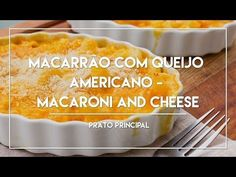 Macarrão com Queijo Americano Special Recipes, Cream Pie, Food Videos, Love Food, Quiche, Macaroni And Cheese, Cake Recipes, Food And Drink, Low Carb