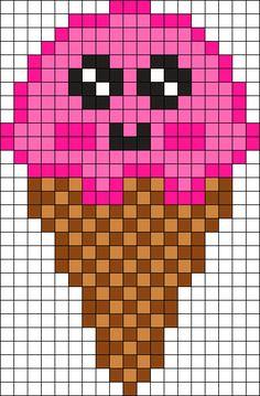 Kandi Patterns for Kandi Cuffs - Food Pony Bead Patterns Melty Bead Patterns, Kandi Patterns, Hama Beads Patterns, Beading Patterns, Perler Beads, Fuse Beads, Pixel Art Templates, Perler Bead Templates, Shopkins