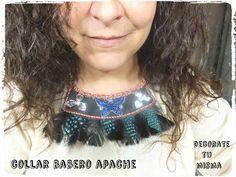 .Decorate tu misma.: Collar babero Apache paso a paso