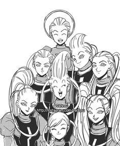 Dragon Ball Super, some of the angels from the universes Dragon Ball Gt, Dragon Ball Z Shirt, Anime Echii, Anime Art, Hetalia Anime, Daishinkan Sama, Dbz Drawings, Anime Merchandise, Fandoms