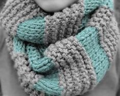 GAP Inspired Boyfriend Infinity Scarf Knitting pattern by MaryAnnDesigns Crochet Scarf Easy, Crochet Poncho, Knit Or Crochet, Crochet Scarves, Knitting Scarves, Easy Knitting, Quick Crochet, Infinity Scarf Knitting Pattern, Infinity Scarf Patterns