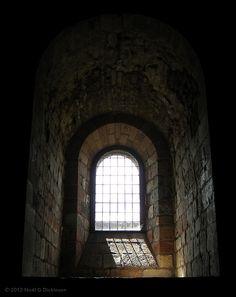 Window bay inside Carlisle Castle Carlisle England, Carlisle Castle, Past, Window, Mirror, Past Tense, Windows, Mirrors