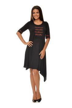 Rochie asimetrica cu imprimeu CBM1025 -  Ama Fashion Dresses For Work, Fashion, Moda, Fashion Styles, Fashion Illustrations, Fashion Models