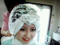 Asian Perm, Updo Styles, Hair Styles, Perm Rods, Hair Color For Women, Roller Set, Perms, Curlers, Curled Hairstyles