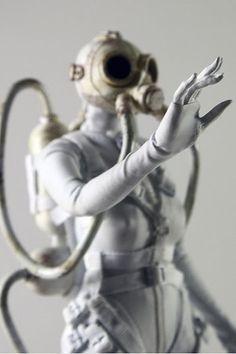 world war robot white mother Ashley Wood, Anatomy Drawing, Post Apocalypse, Creepy Dolls, Fantastic Art, Dieselpunk, Female Characters, Cyberpunk, World War