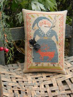 Blue Belsnickle  cross stitch PAPER PATTERN - from Notforgotten Farm