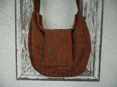 Bohemian Gypsy Bag Purse Red Cut Velvet with by ZojjaUniquelyYou, $65.00
