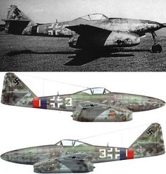 Hans Guido MUTKE of 9./JG 7 landed with this Me 262 A (W.Nr. 500071) at Dübendorf, Switzerland, on 25 April 1945