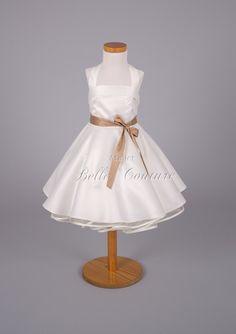 Süßes Blumenmädchenkleid Gr. 80-104  von Belle Couture Braut  Brautkleider im 50er Jahre Petticoat Stil auf DaWanda.com