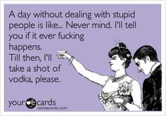 A day without stupid people